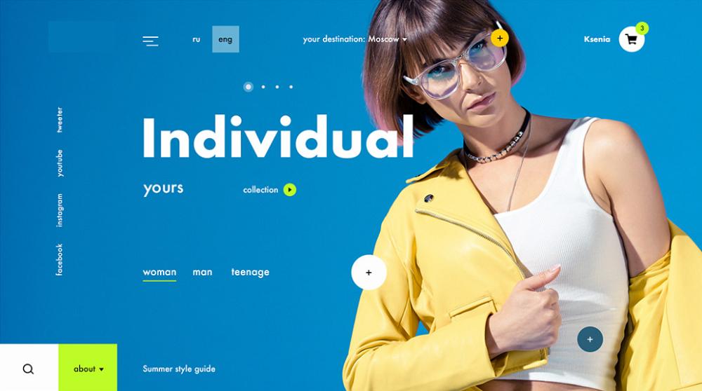 цветовые решения интернет магазин одежды