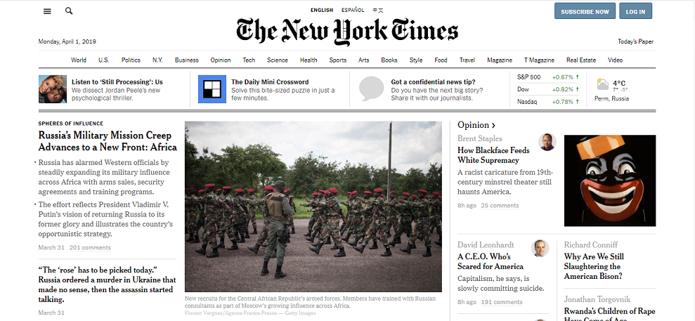 газета The New York Times