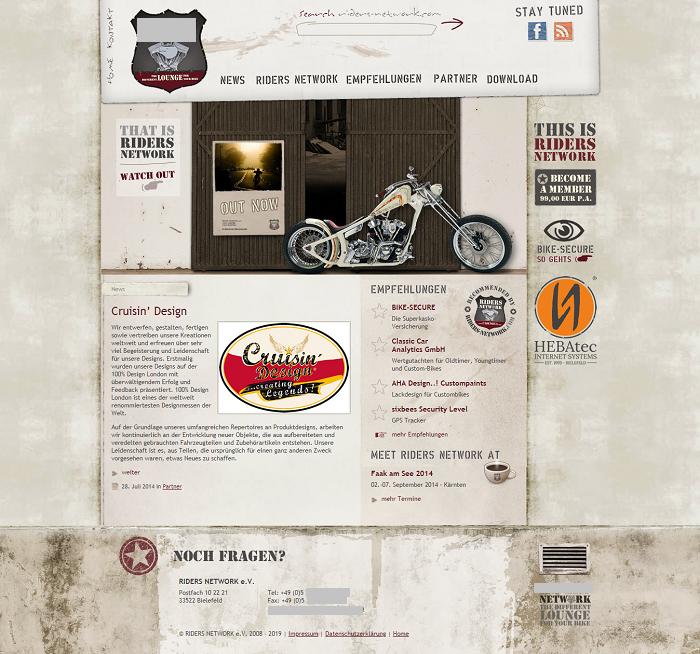 Пример сайта в стиле гранж