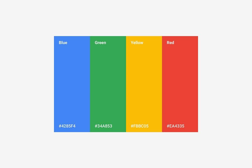 логотипы Google цвета