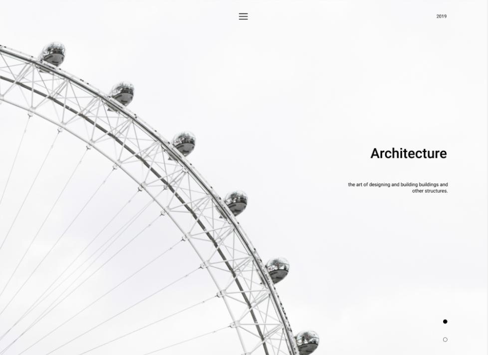 минимализм в цветах сайта