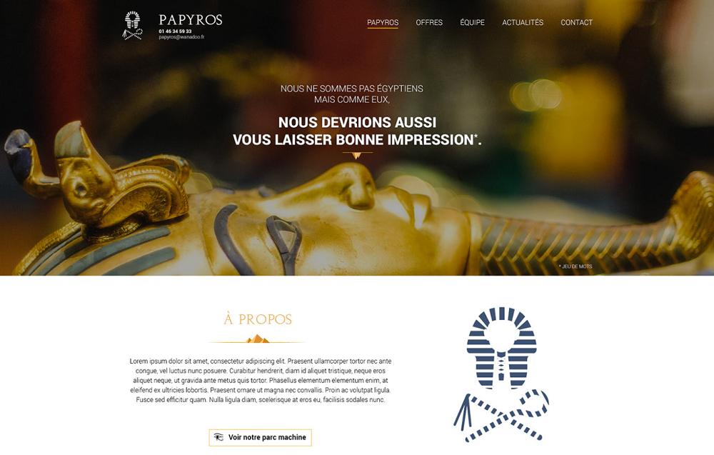 египетские элементы на сайте