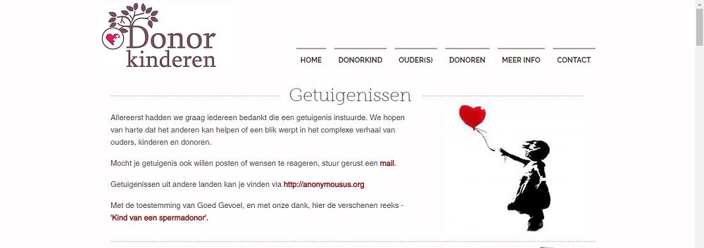 Девочка с шаром на сайте Donorkinderen