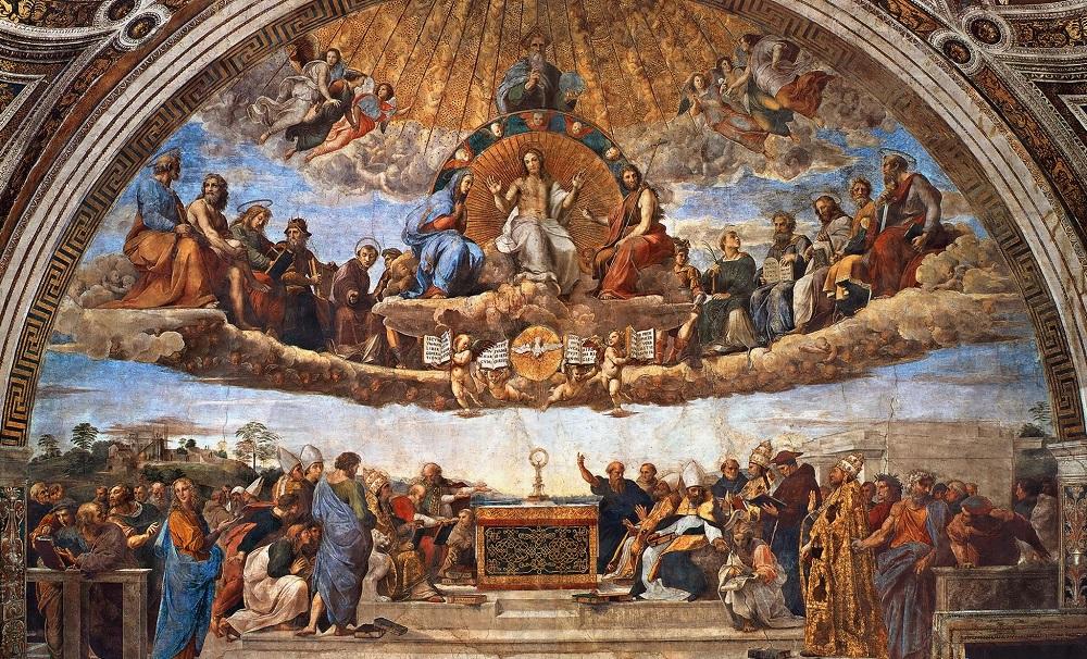 принцип симметрии на фреске Рафаэля