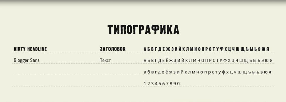 типографика с сайта Идби