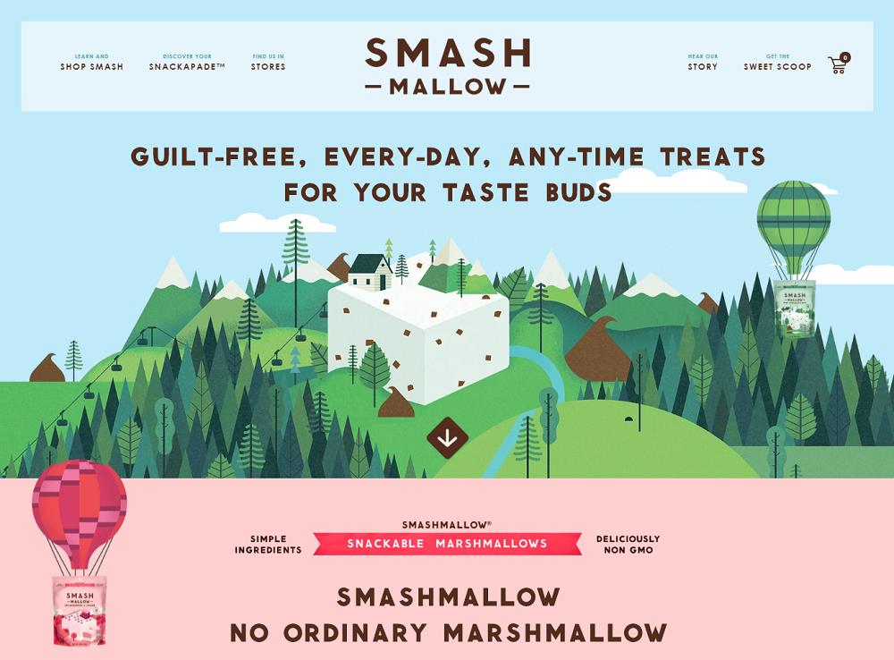 Пример использования иллюстрации в дизайне сайтов